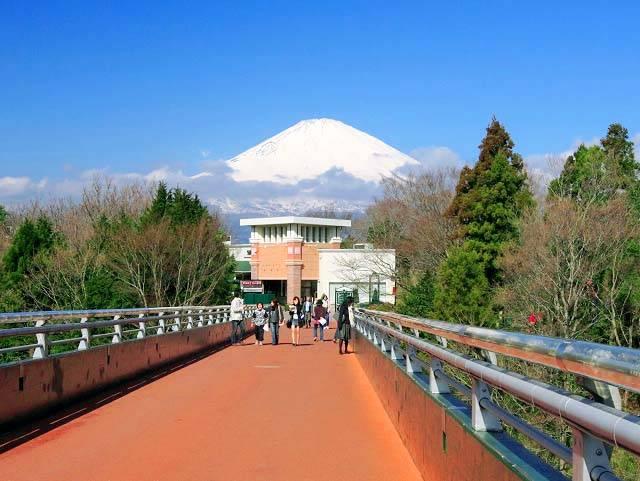 御殿場プレミアム・アウトレットから臨む富士山