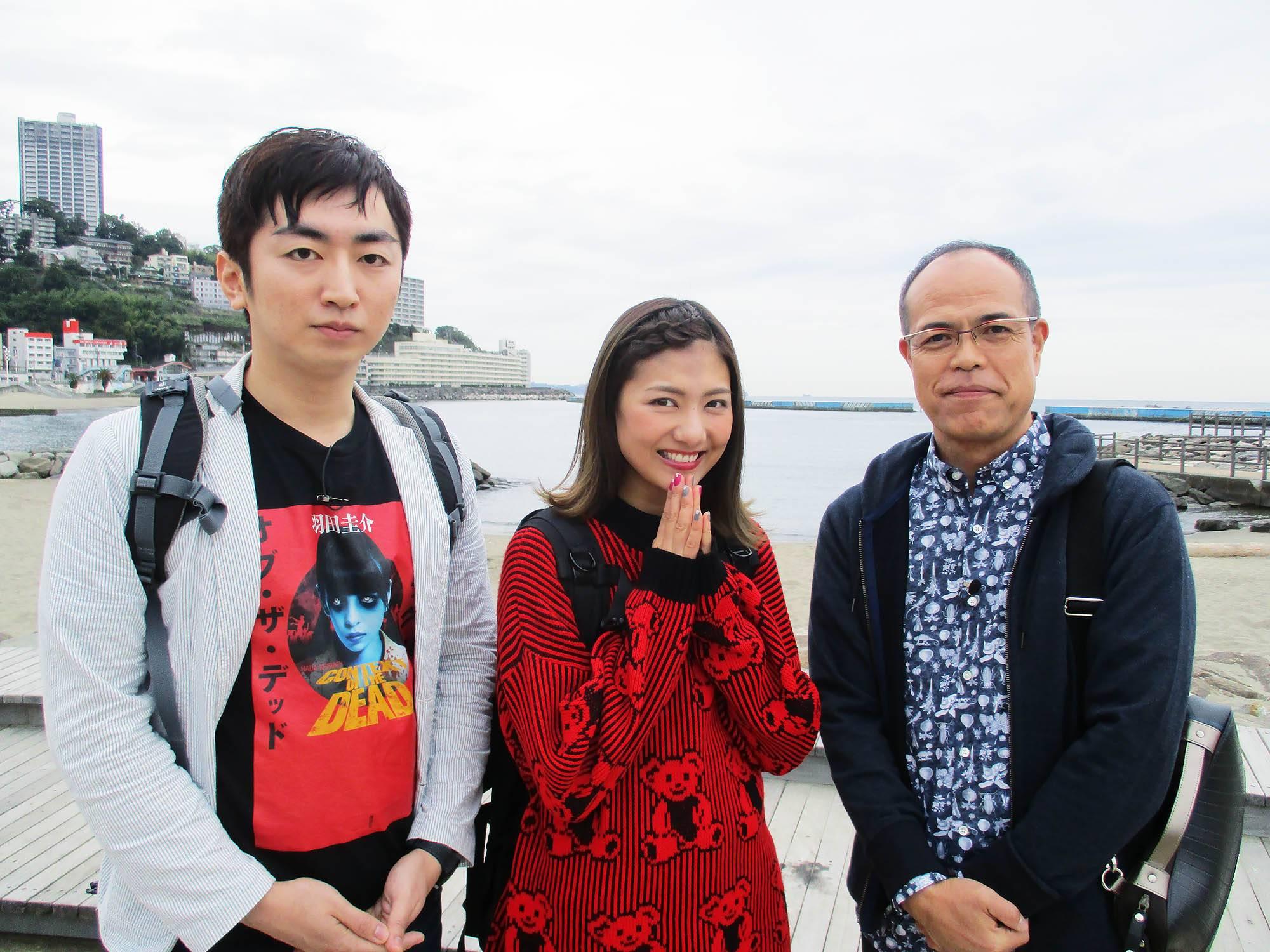 写真左から:羽田圭介、宮澤佐江、田中要次