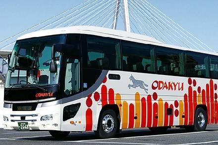 小田急ハイウェイバス 夜行バス車内で新宿の温浴施設の優待券を配布