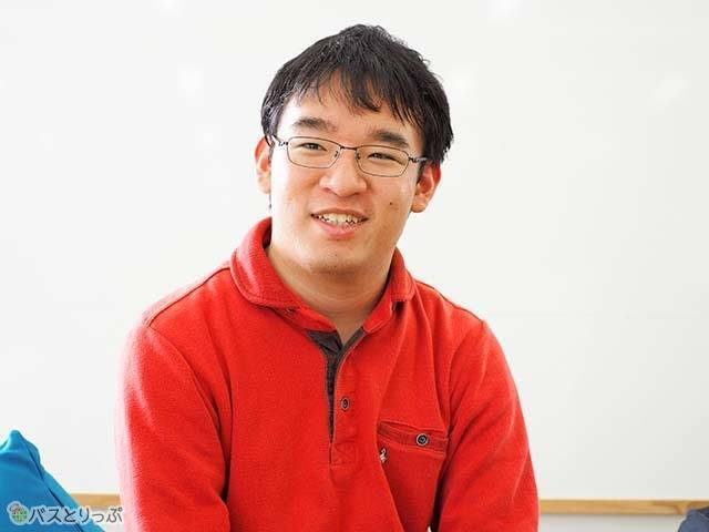 参加者の中で一番高速バスを利用している松尾さん