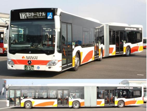 車体が2つ繋がっている連節バス