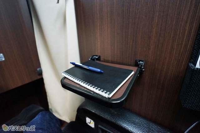 スマートフォンや手帳などがおけるスペースです