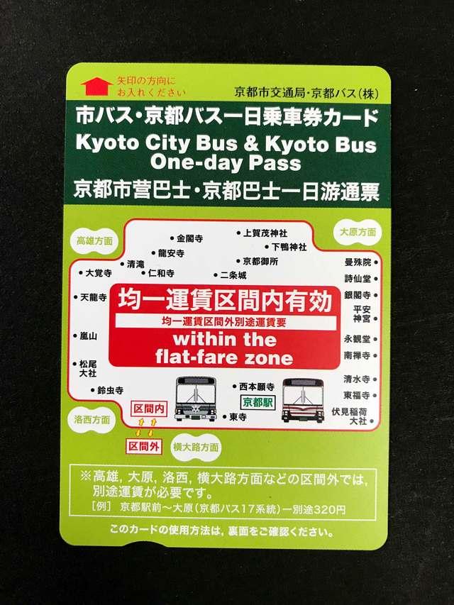 京都観光には1日乗車券がおトクです