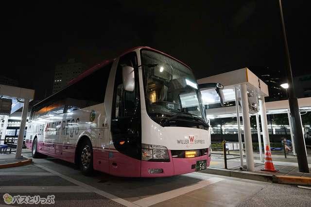 大崎バスターミナル23:10出発!