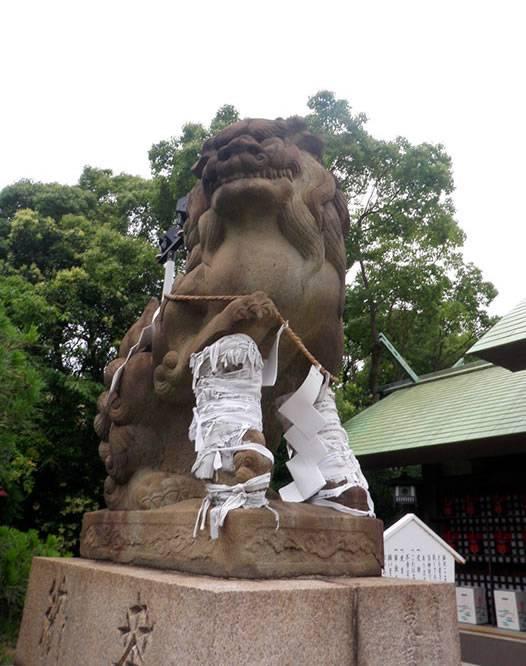 和田神社の狛犬(神戸の敦盛塚・須磨寺・和田神社)