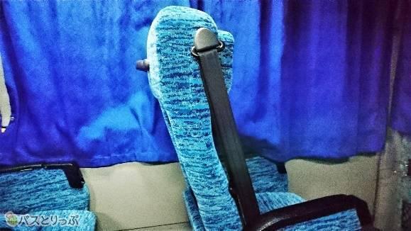 フリーストップタイプのシートなので体勢に合わせた位置で固定できます