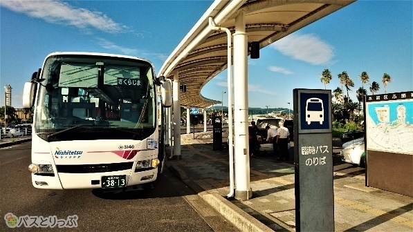 鹿児島中央駅を経由し、終点は高速船ターミナル。
