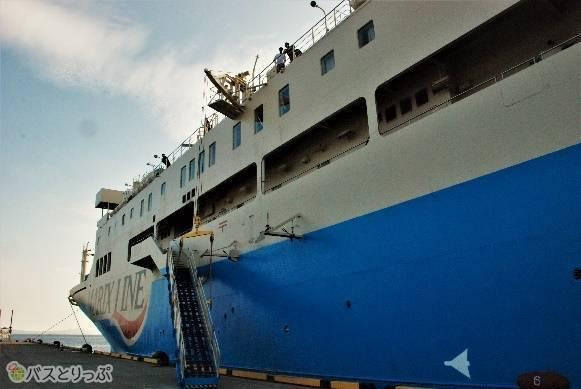 今回、乗船したフェリー「クイーンコーラル8」