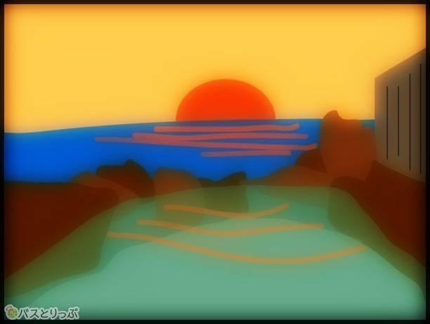 日没はさらに最高らしいです(南紀白浜「崎の湯」に行って来た)