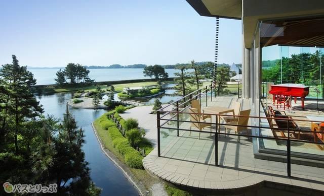 ラウンジから見える松島湾