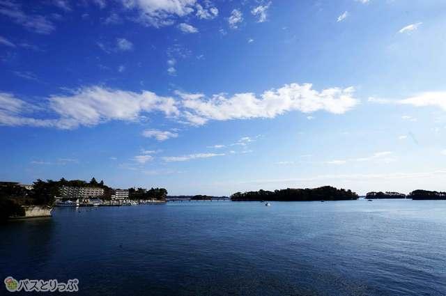 海から見る松島湾の絶景