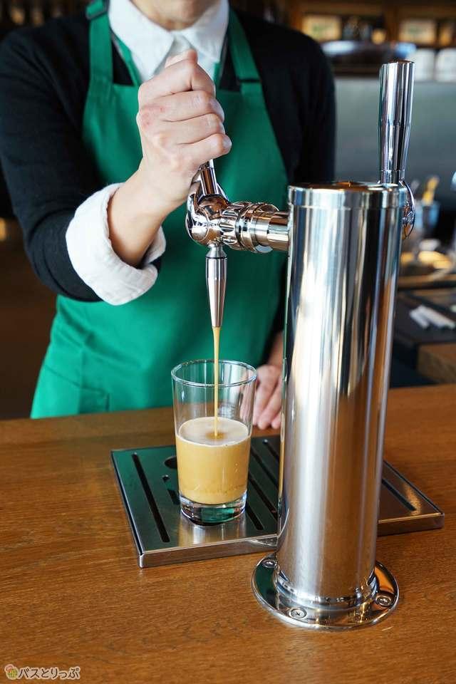 1杯1杯バリスタが抽出してくれるナイトロって?