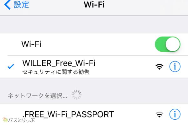 Wi-Fiの表示