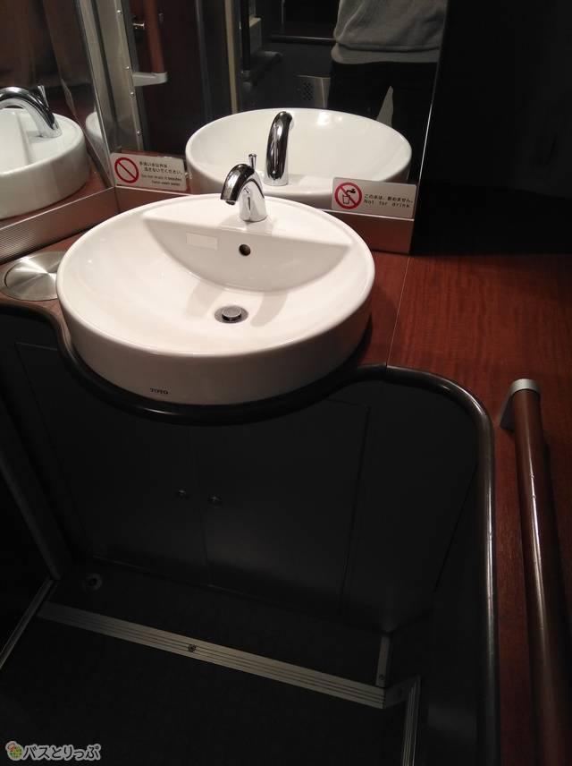 独立洗面台も付いている豪華さ