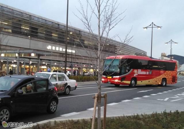 予定よりも少し早く京都駅八条口に到着しました