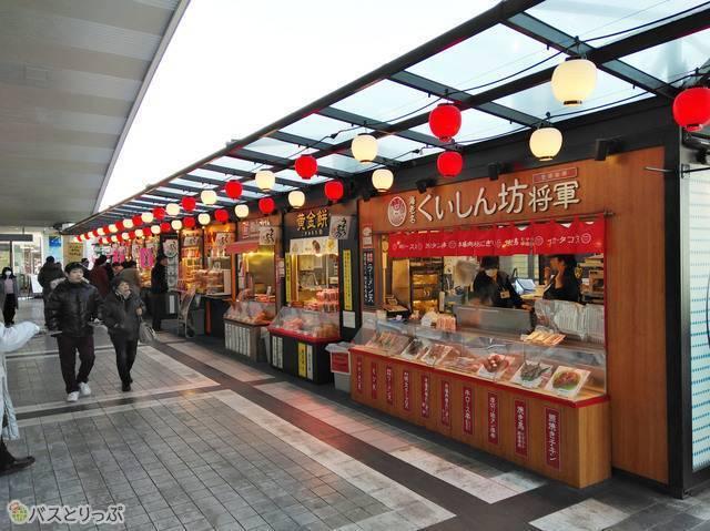 日本一大きいサービスエリアだけあって屋台などお店も充実