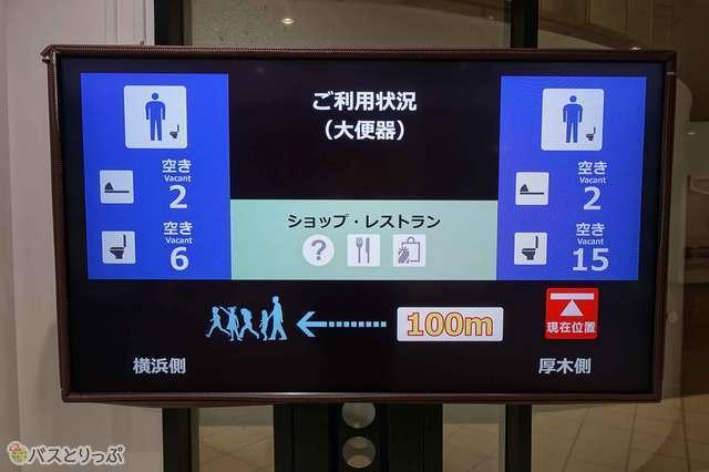 これは便利! トイレの空き情報