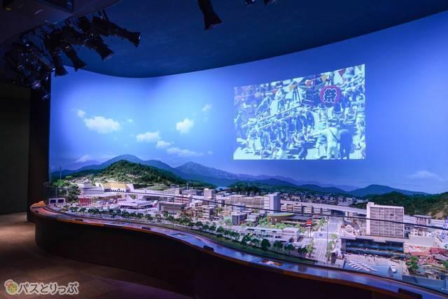 「いすゞミニチュアワールド」の巨大ジオラマ