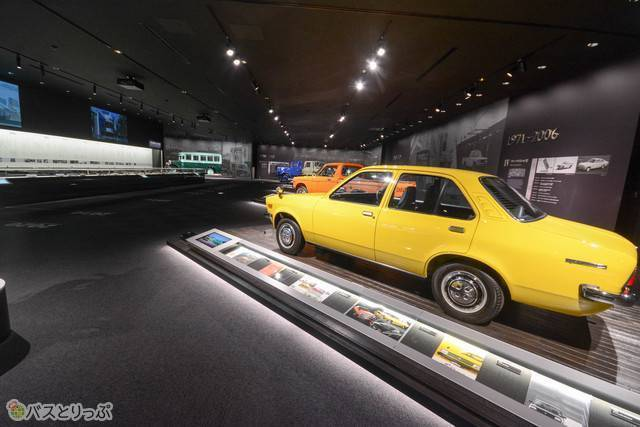 「いすゞの歴史」の展示コーナー