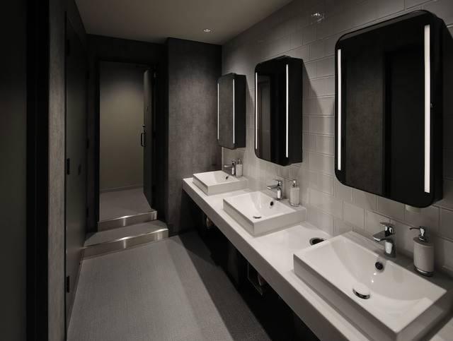 それぞれの洗面台の下にドライヤーが設置されている(画像提供:グローバルエージェンツ)