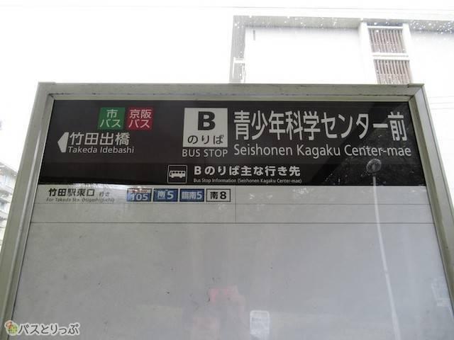 京都深草 バス停看板