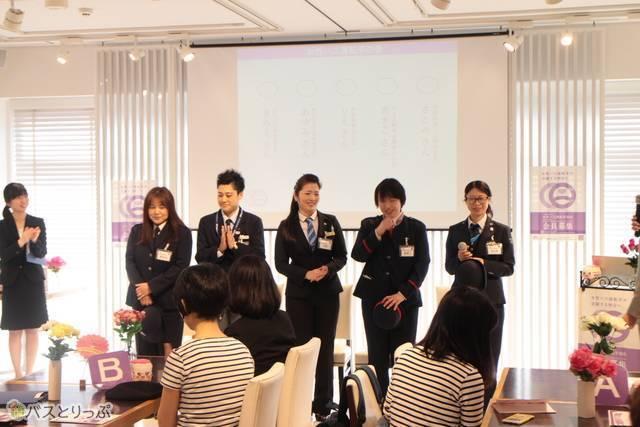 登壇した5名の現役女性バス運転手