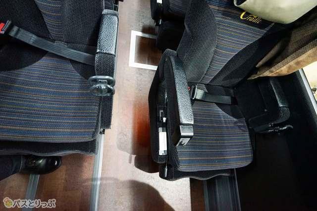 微妙に異なる座席位置