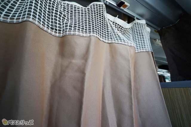 個室気分を味わえるプライベートカーテン