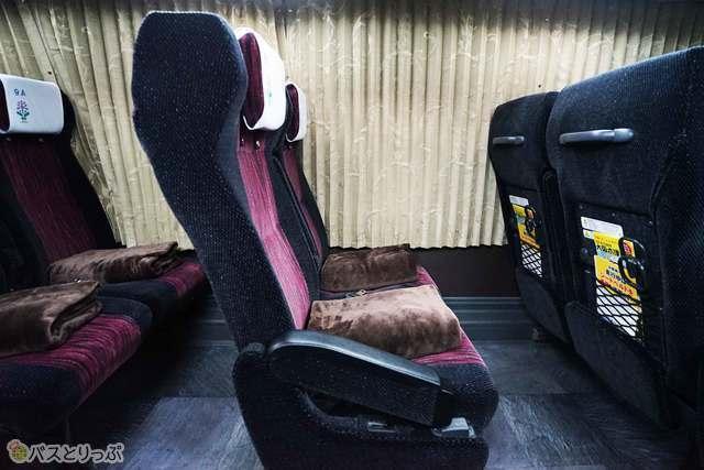 乗車時の状態のシート位置