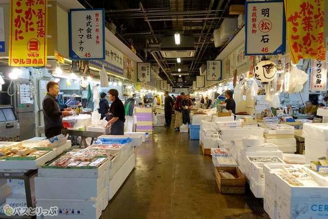 木津卸売市場はこんなところです