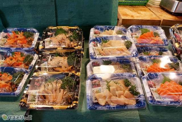 お店で買って市場で食べる?