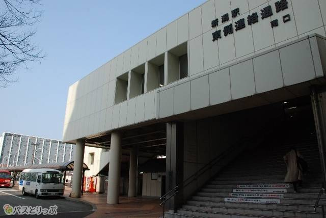 新潟駅東側連絡通路の南口