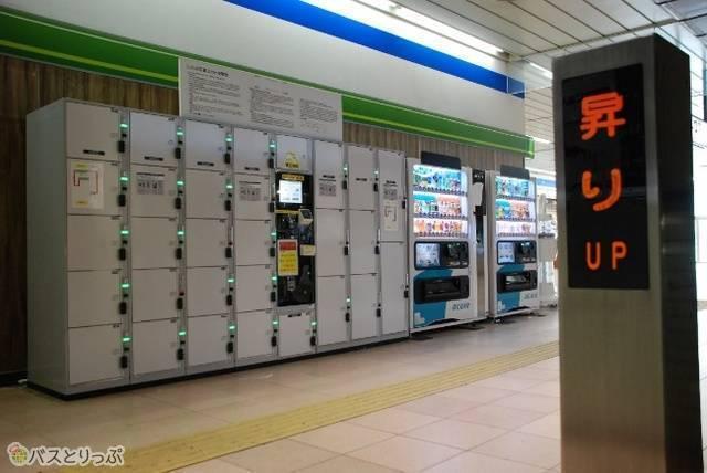 新潟駅在来線東口近くのコインロッカー