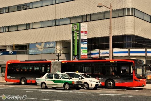 連結バスとタクシー