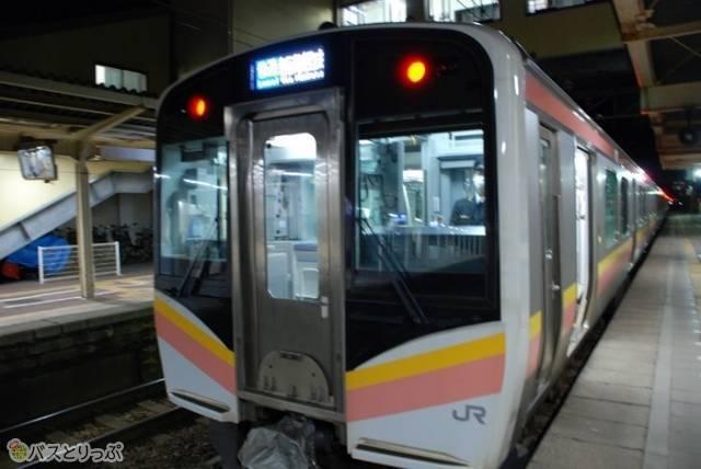 村上発新津行で新潟駅へ