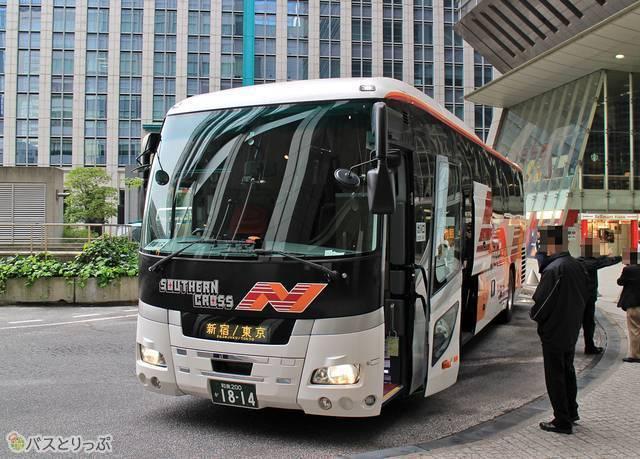 定刻よりも30以上早く東京駅日本橋口に到着した「サザンクロス和歌山号」