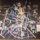 縦2m×横3mのご近所マップには、OMO5 東京大塚から徒歩で行けるオススメ情報がたっぷり