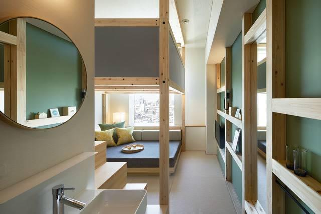 入口から見たYAGURA Room。最大定員は3名(画像提供:星野リゾート)