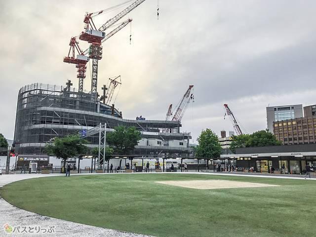 再開発中の熊本交通バスセンター