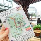 北鉄バスのフリー利用ができるエリアは、一日フリー乗車券の裏に案内があります