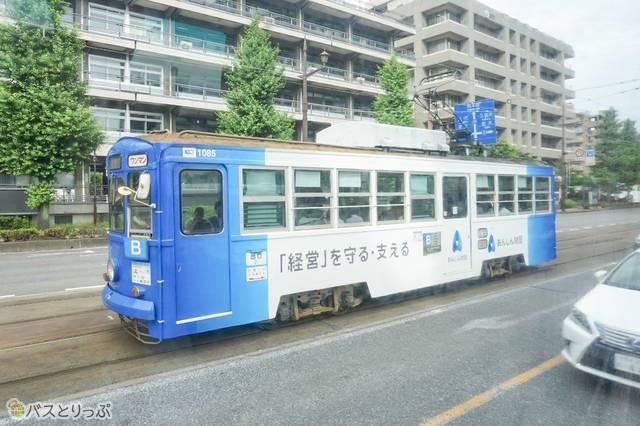 普段あまり見かける機会が無かった路面電車も新鮮!