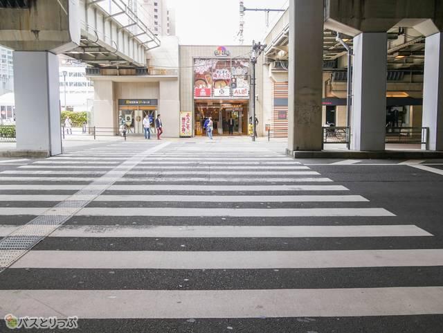 横断歩道前