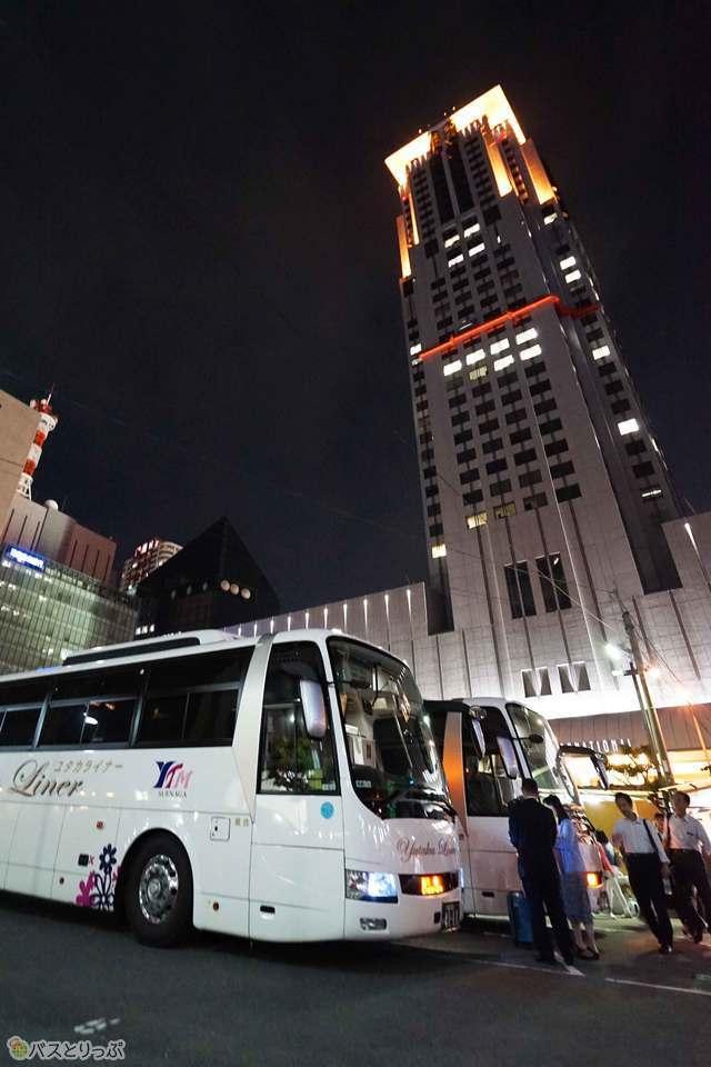 大阪はプラザモータープールからの乗車