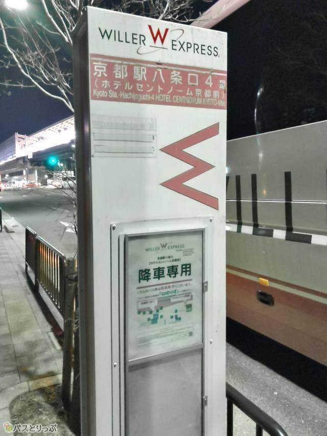 写真左手に見えるのがJR京都駅