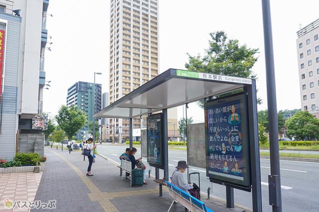 熊本駅バス停 2番乗り場