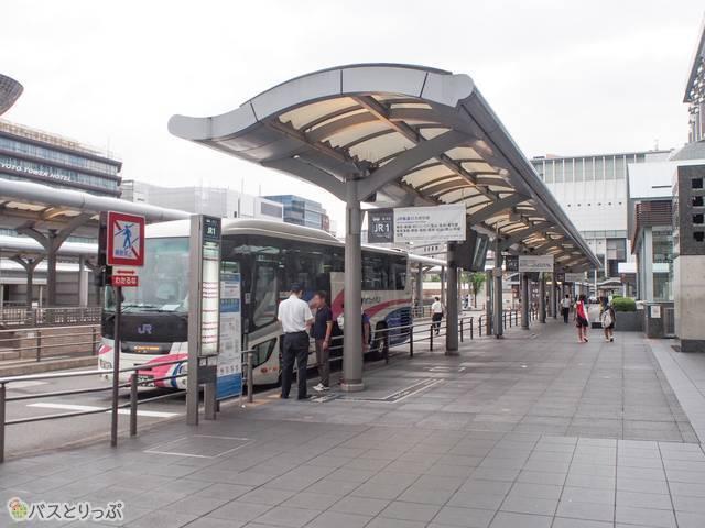 JR1~3までバス停が連続しています