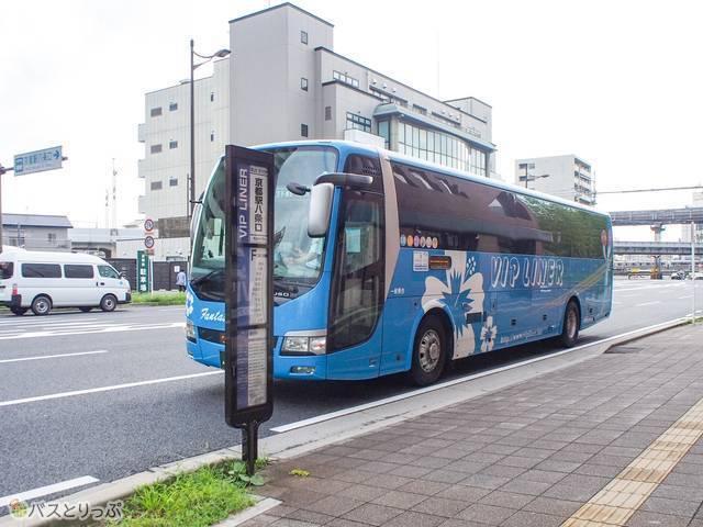 VIPラウンジの目の前にVIPライナー「京都駅八条口」バス停