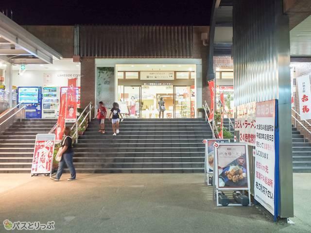 大津SAのおみやげ・飲食コーナーは24時間営業