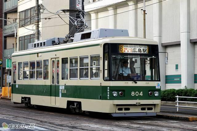 市内でよくみかける路面電車