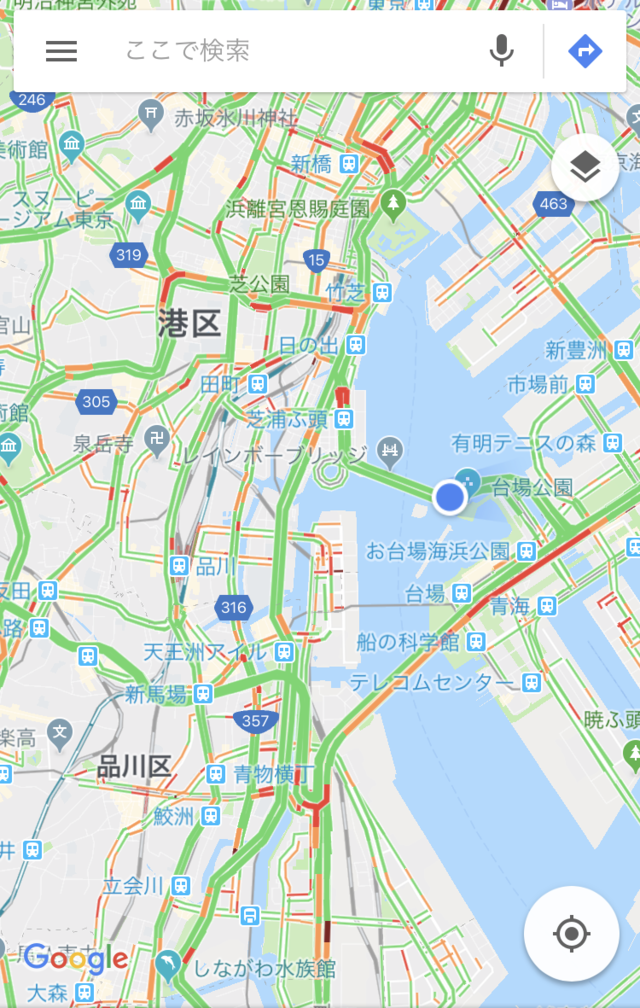 渋谷発羽田空港行きのリムジンバスはレインボーブリッジを渡る